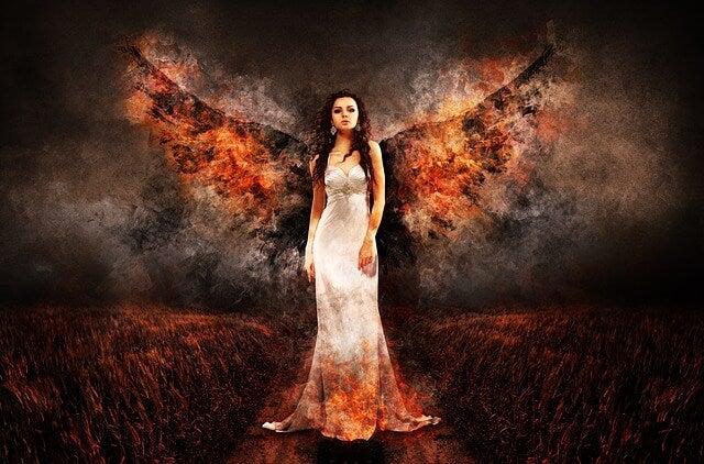 Hada transformándose en bruja