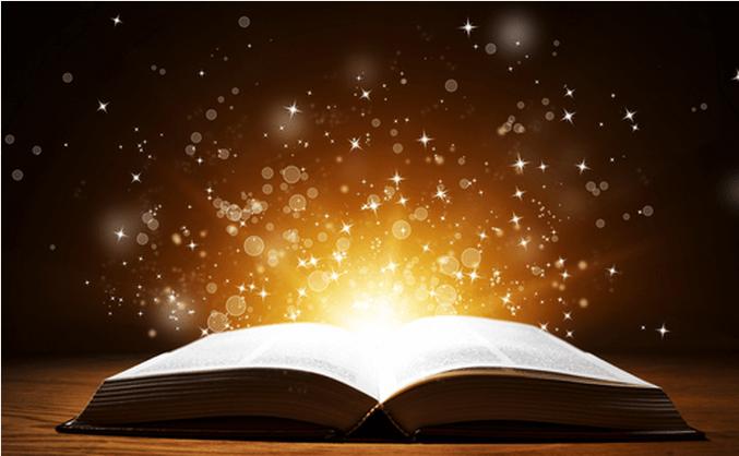 Libro iluminado que invita a leer