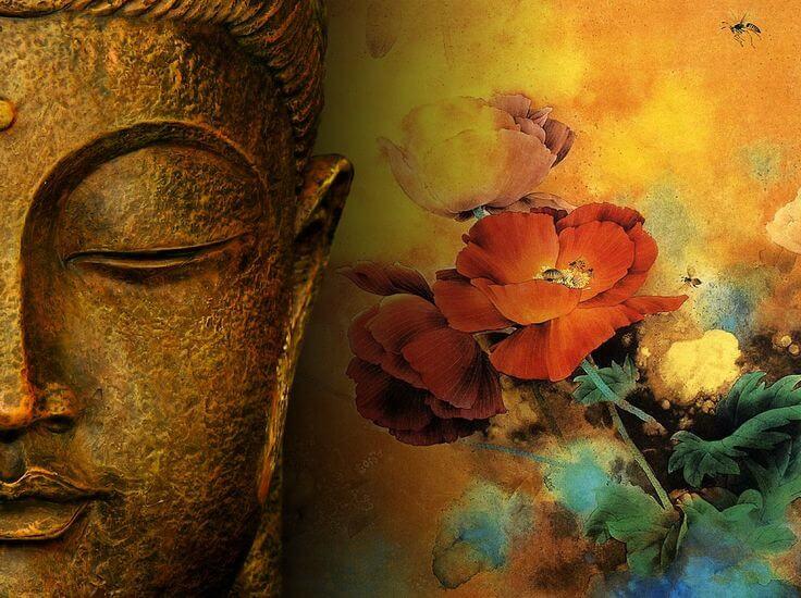 Buda simbolizando la palabra NAmasté