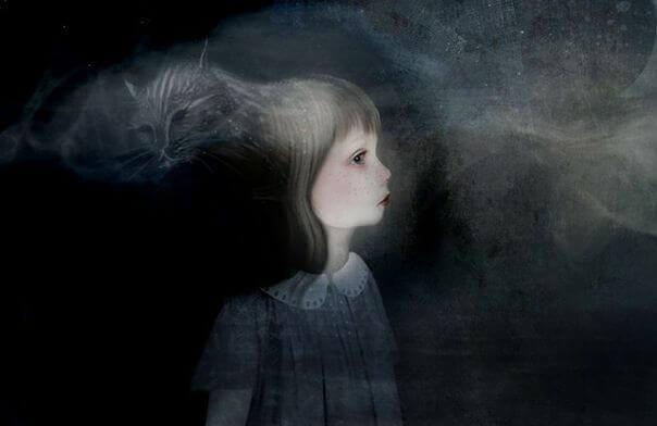 Niña triste por heridas emocionales de la infancia