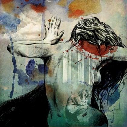 Mujer con intoxicación emocional