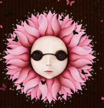 Flor simbolizando vida