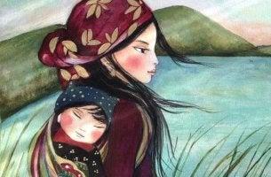 MAdre e hija con un fuerte vínculo emocional