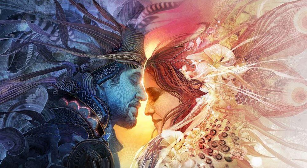 Hombre y mujer que son almas gemelas