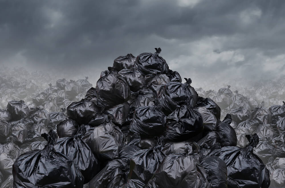 Montones de basura