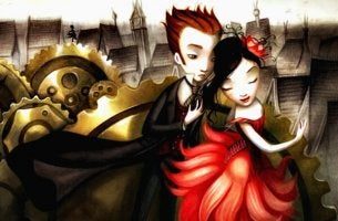 Hombre y mujer vestidos de traje sin miedo al amor