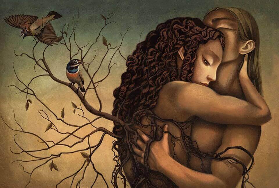 Amo esos abrazos que hacen que las tristezas se vayan del cuerpo
