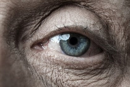 Ojo de una persona mayor