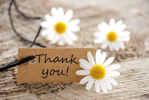 Dar las gracias para ser feliz