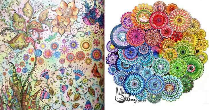 Dibujos abstractos coloreados