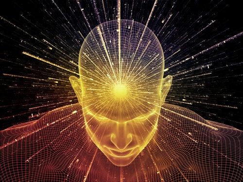 Hombre con la mente activa