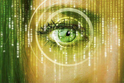Ojo de Matrix simbolizando identidad