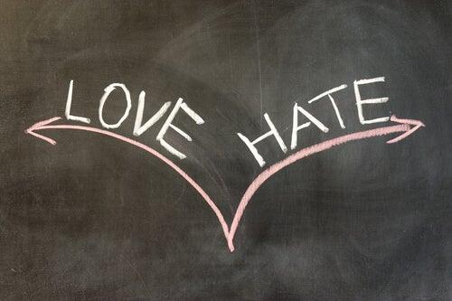 Sentimientos de amor odio