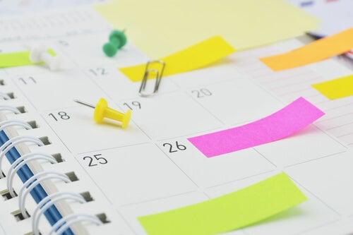 Agenda con notas