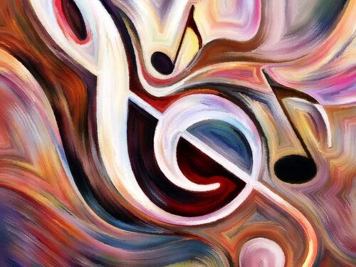 Nota musical de colores