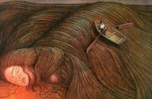 Mujer dormida con la conciencia tranquila