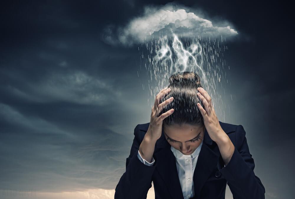 Mujer bipolar con depresión