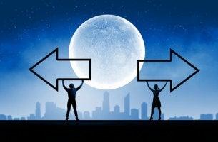 Dos direcciones bajo la luna llena
