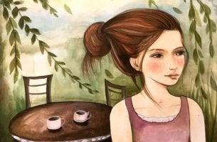 Chica esperando
