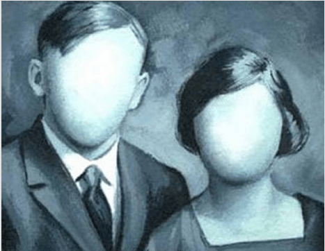 Pareja sin rostros, sin identidad