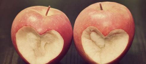 Manzanas mordidas