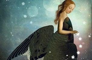 Mujer con estrellas