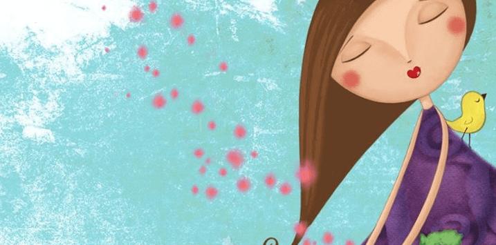 Mujer con los ojos cerrados soñando