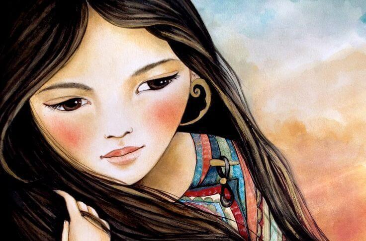 mujer ilustración