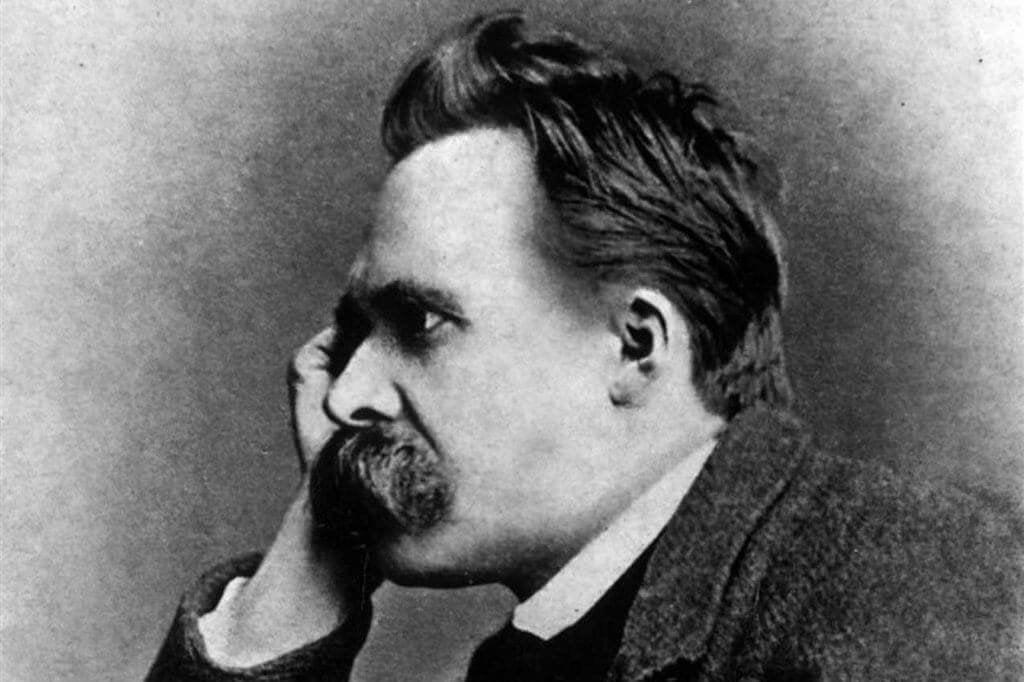 Nietzsche pensando en la felicidad