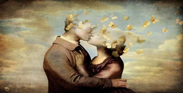 pareja beso con mariposas (1)