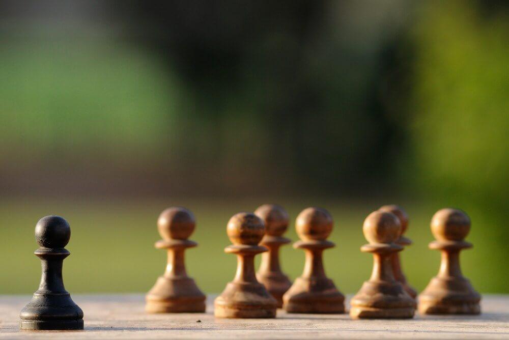 Peones de ajedrez prejuicios