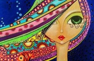 Cara de mujer de colores