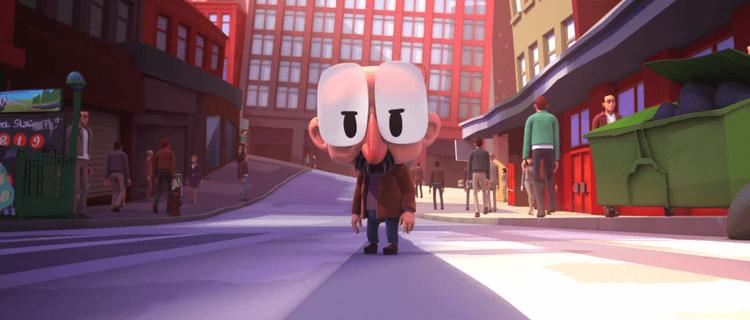 Hombre bajito enfadado