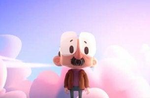 Hombre bajito entre nubes