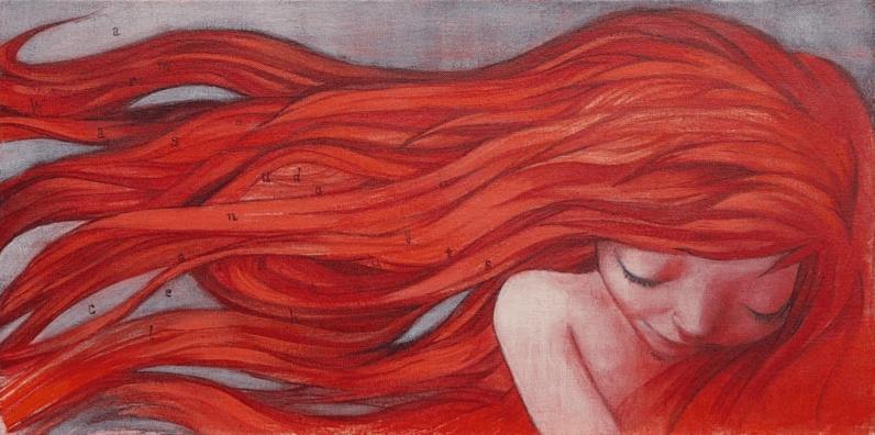 Mujer con pelo rojo