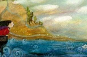 Mujer mirando las olas representando estabilidad