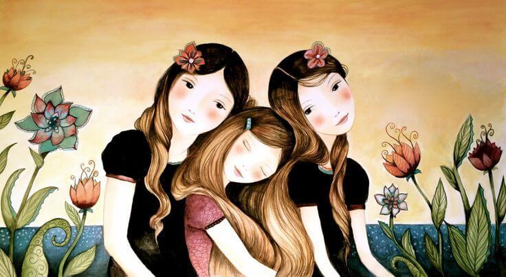 Tres hermanas juntas