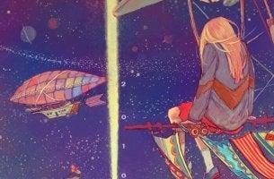 Chica mirando al cielo