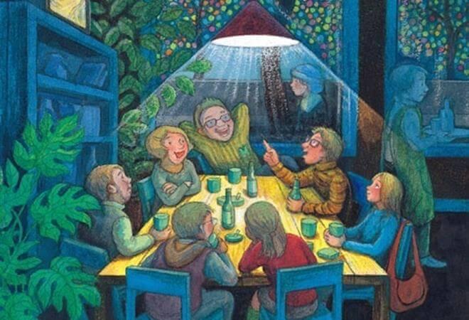 Familia reunida en la mesa