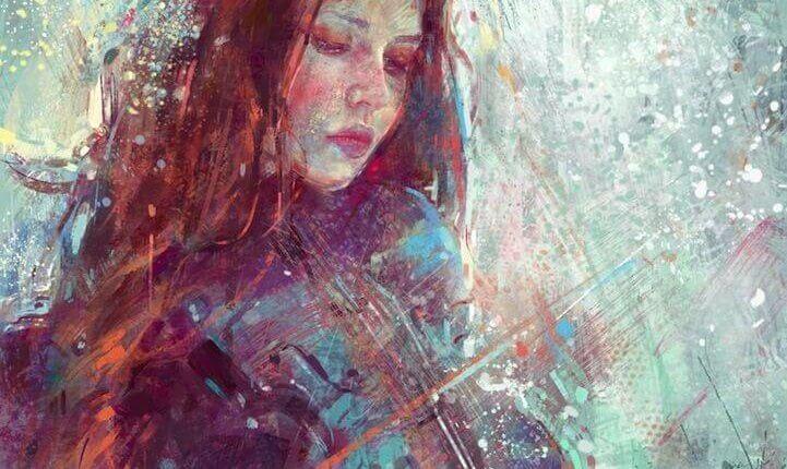 joven tocando el violín con sensibilidad