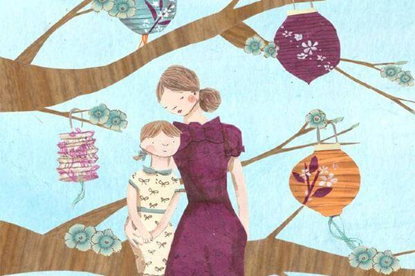 madre e hijo con un árbol