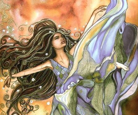 Mujer con magia y fuerza