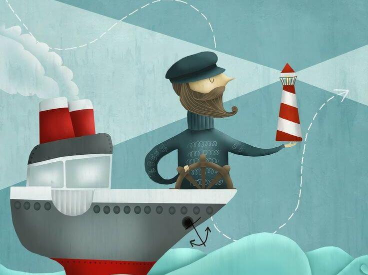 marinero en su barco