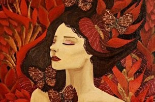 Mujer con mariposas representando no muevas montañas por quien no mueve un dedo por ti