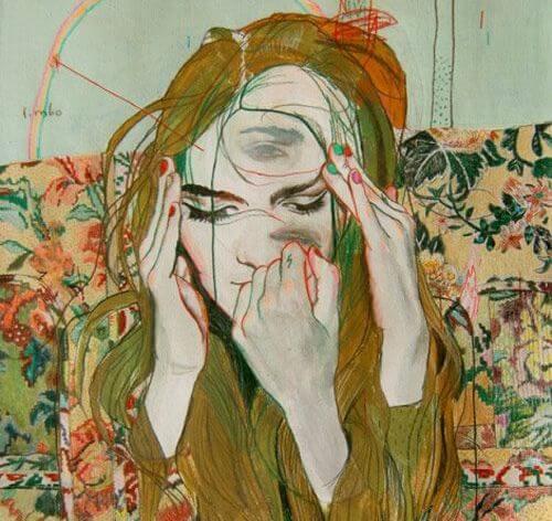 rostro mujer surrealista