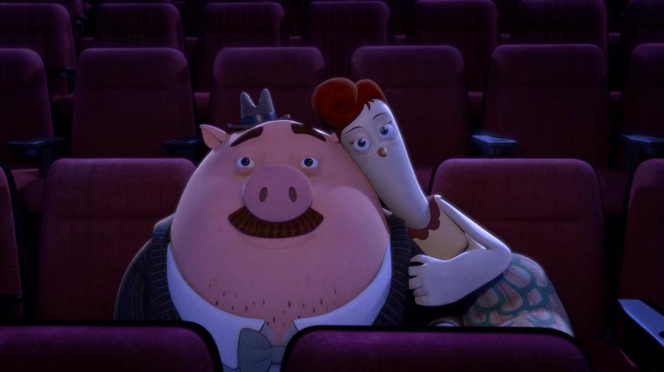 Cerdo y gallina en el cine