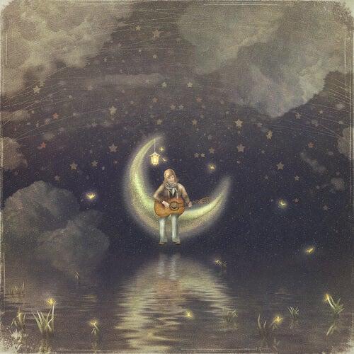 Niña en la luna