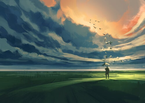 Nubes sol