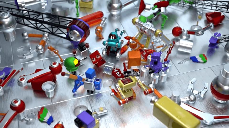 Robot destrozado