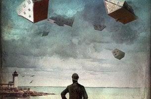 Hombre-observando-casas-en-el-aire